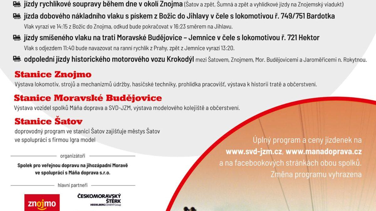 Oslava 150 let Severozápadní dráhy ve Znojmě