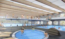 Nová podoba krytého bazénu ve Znojmě. Foto: Město Znojmo